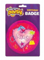 Large princess birthday badge (Code 1206)